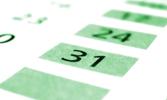 Kalender für die drei Gesegneten Monate