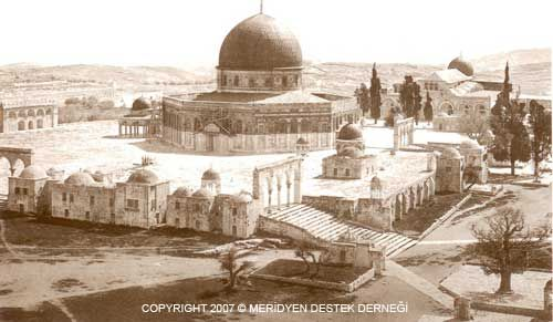 Der Felsendom in Jerusalem (Kubbah al-Sahra)